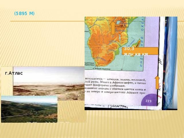 (5895 М) 30,3 млн.кв.км. г.Атлас
