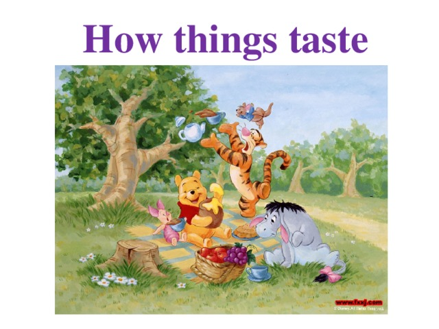 How things taste