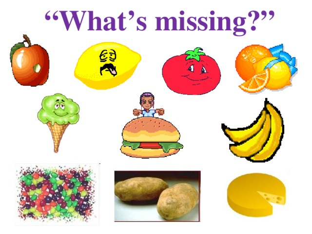 """"""" What's missing?"""""""