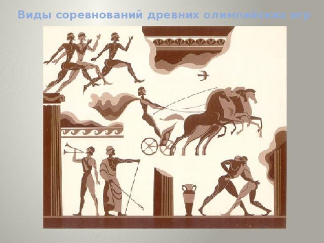 Виды соревнований древних олимпийских игр