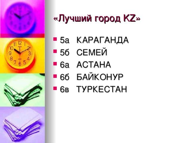 «Лучший город KZ »