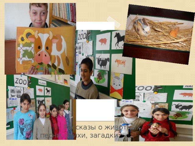 Рассказы о животных, песни, стихи, загадки Вставка рисунка