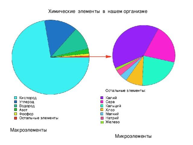 Химические элементы в нашем организме Макроэлементы Микроэлементы