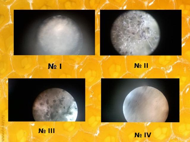 № I № II № III № IV