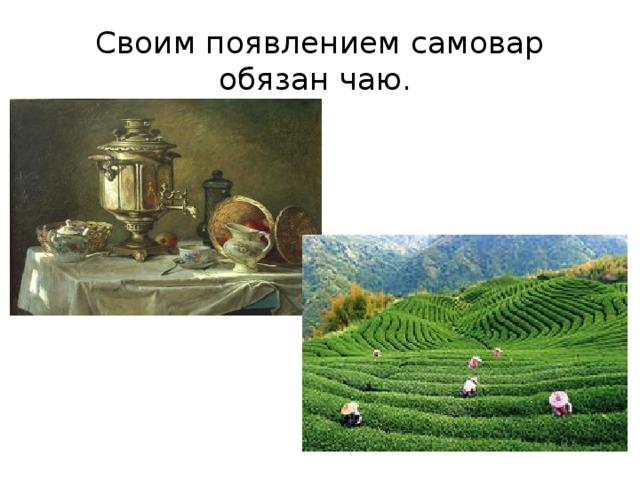 Своим появлением самовар обязан чаю.