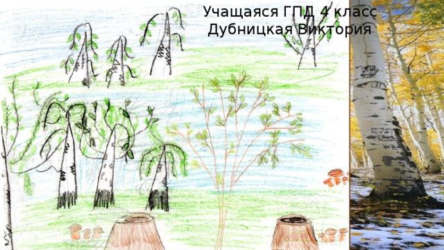 Учащаяся ГПД 4 класс  Дубницкая Виктория