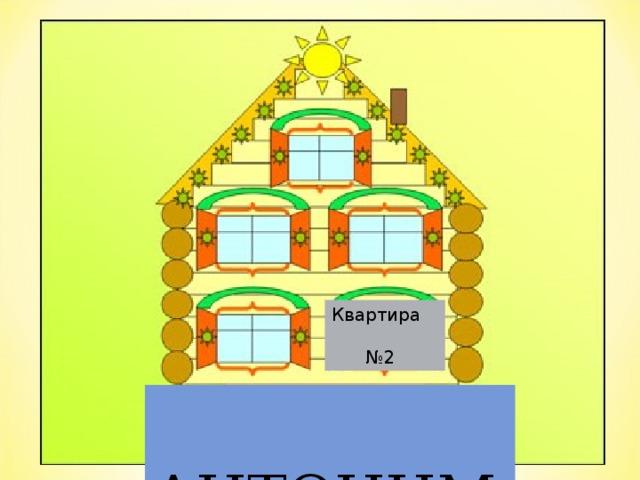 Квартира    №2  АНТОНИМЫ