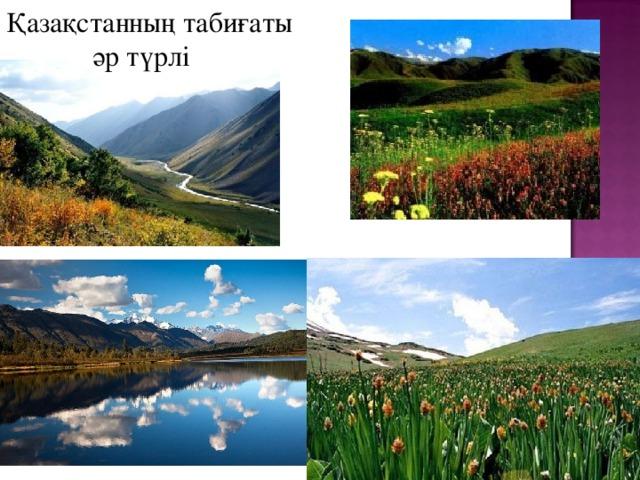 Қазақстанның табиғаты  әр түрлі