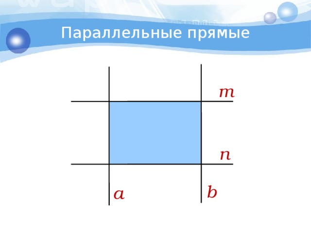 Параллельные прямые m n b a