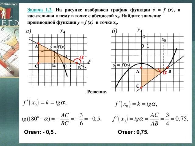 Решение задач егэ касательная решение уравнений задачи проценты