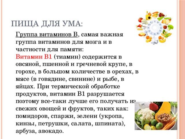 Картинка витамины для памяти