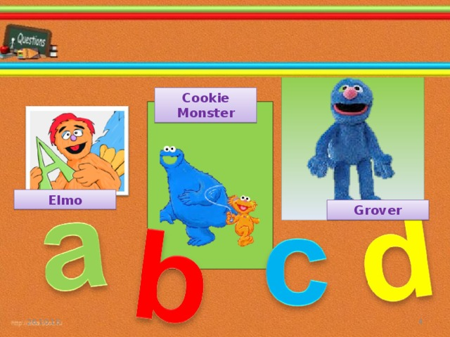 Cookie Monster Elmo Grover 26.10.16