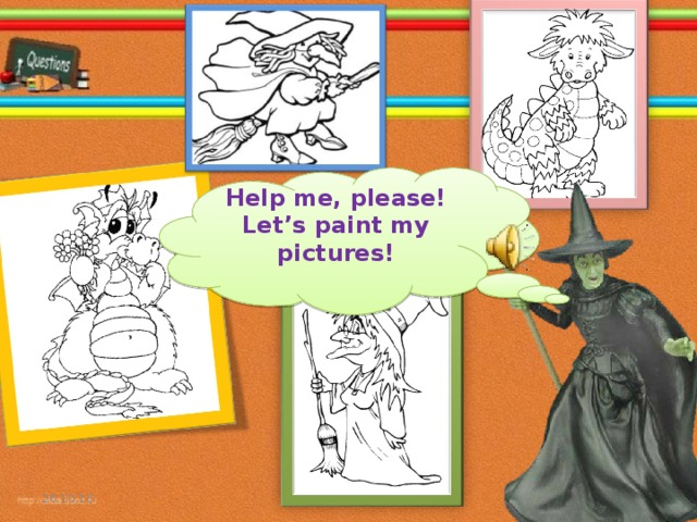 Help me, please! Let's paint my pictures!  26.10.16