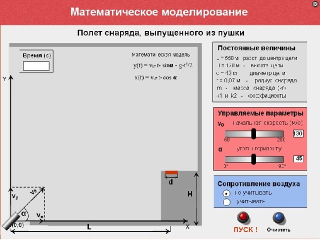 Компьютерная математическая модель