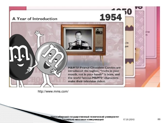 http://www.mms.com/ 17.01.2010 Новосибирский государственный технический университет Кафедра Социально массовых коммуникаций