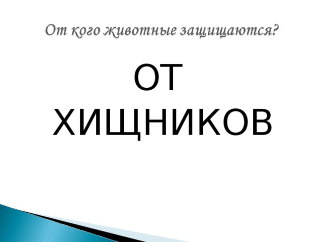 ОТ ХИЩНИКОВ