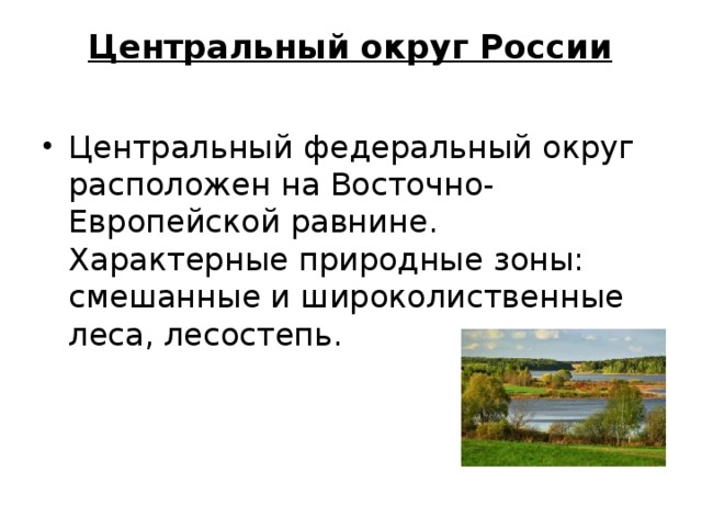 Центральный округ России