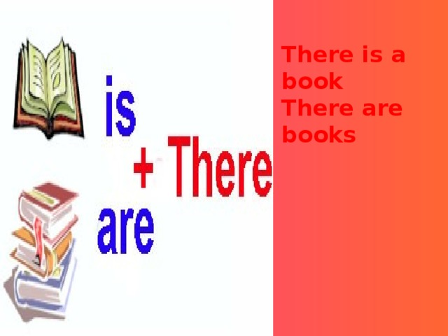 There is a book There are books