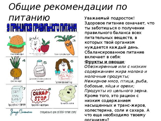 Сбалансированная диета для девочки подростка