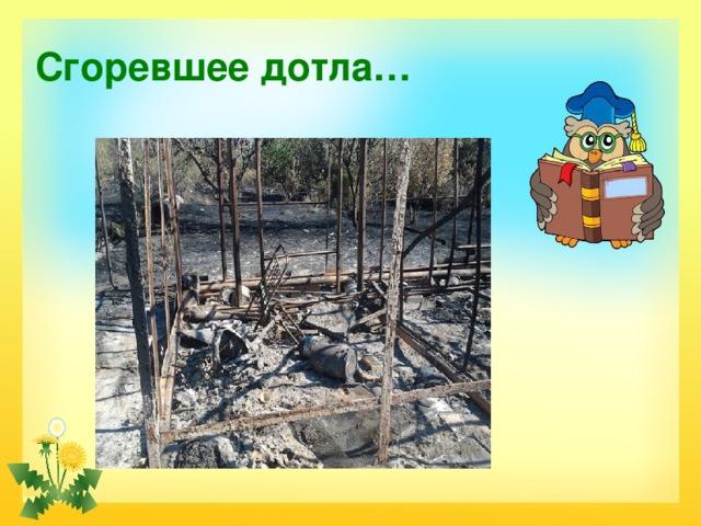 Сгоревшее дотла…