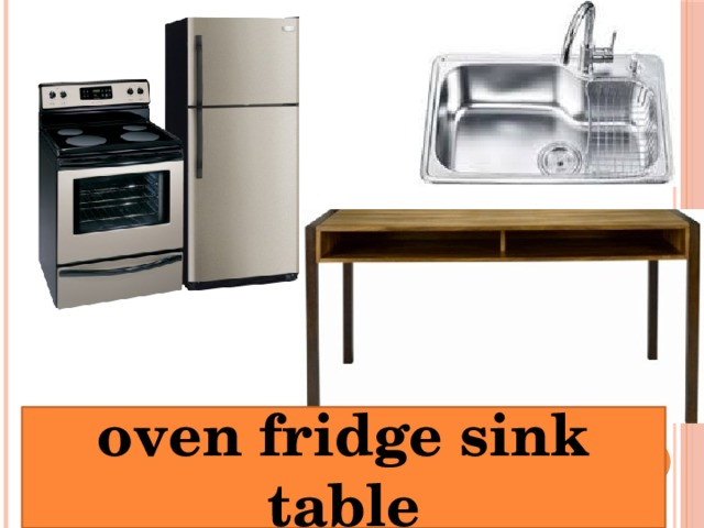 oven fridge sink table