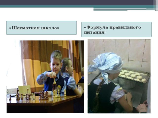 «Шахматная школа» «Формула правильного питания