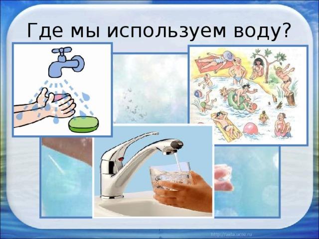 картинки как использовать воду