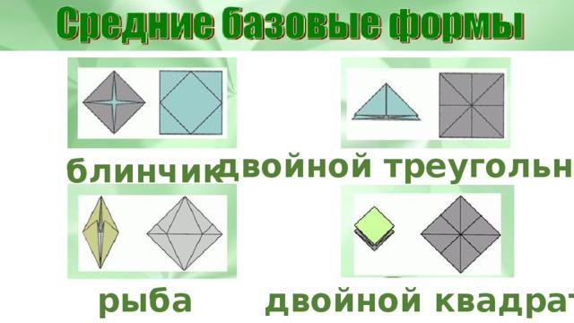 двойной треугольник блинчик рыба двойной квадрат