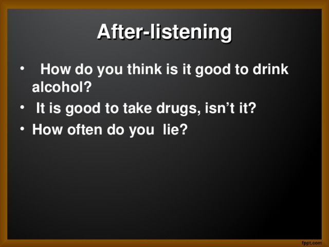 After-listening