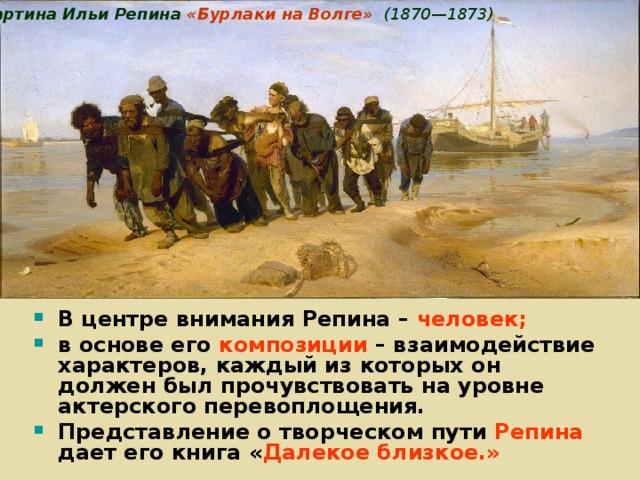 Картина Ильи Репина «Бурлаки на Волге»   (1870—1873)