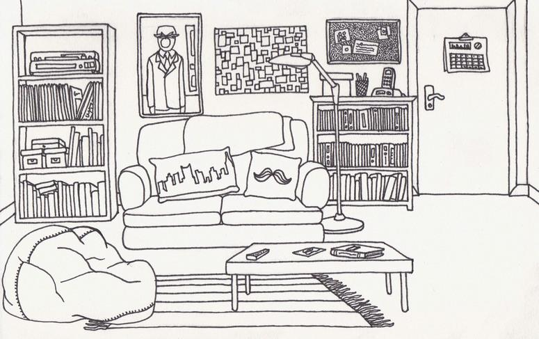 Спальня рисунок английский