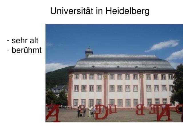 Universität in Heidelberg
