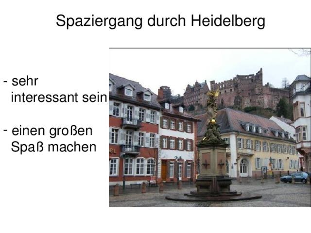 Spaziergang durch Heidelberg - sehr  interessant sein  einen großen  Spaß machen