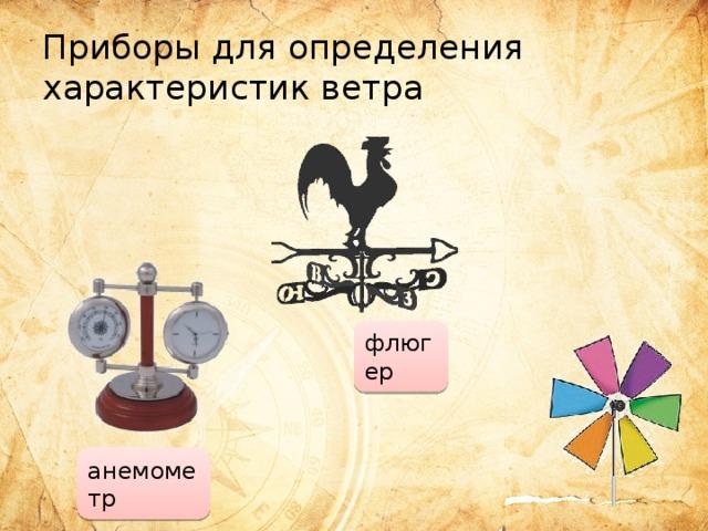 Приборы для определения характеристик ветра флюгер анемометр