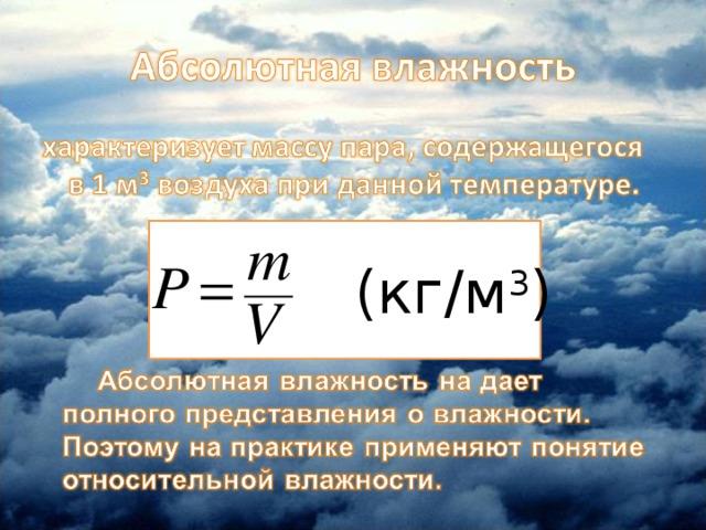 (кг/м 3 )