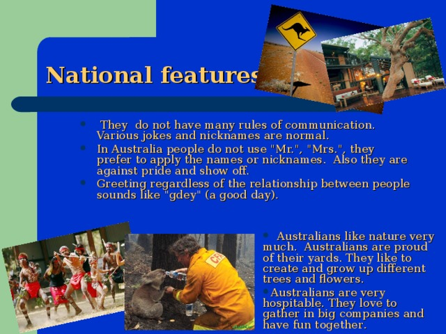 National features