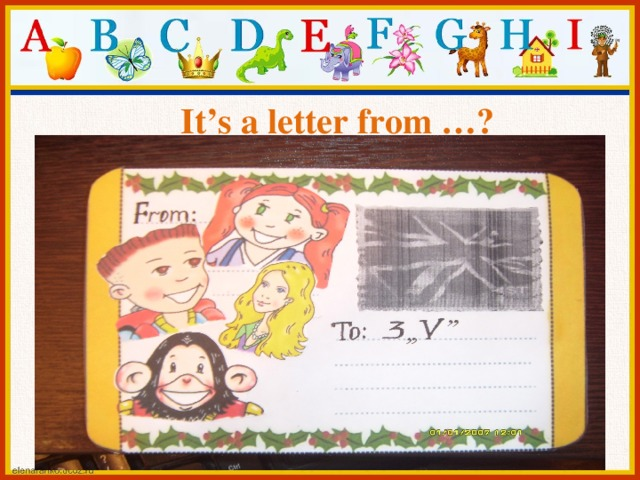 It's a letter from …?
