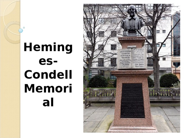 Heminges- Condell Memorial