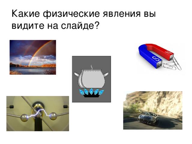 Какие физические явления вы видите на слайде?