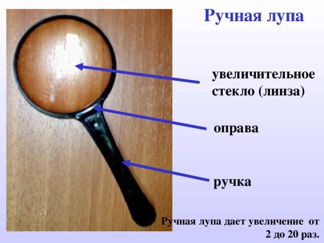 Ручная лупа увеличительное стекло ( линза) оправа ручка Ручная лупа дает увеличение от 2 до 20 раз.