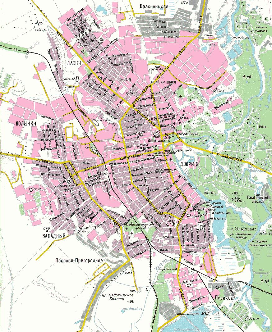 карта тамбова с улицами и фото домов один вариант подделки