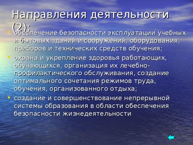 Направления деятельности (2):