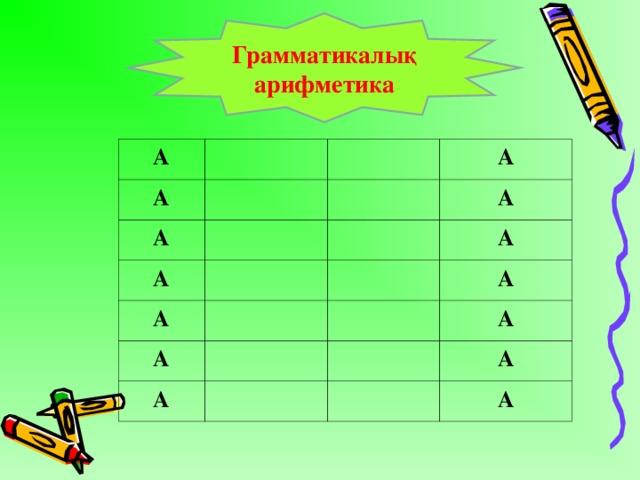 Грамматикалық арифметика А А А А А А А А А А А А А А