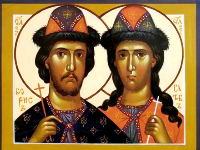 Первыми русскими святыми стали сыновья князя Владимира Борис и Глеб.