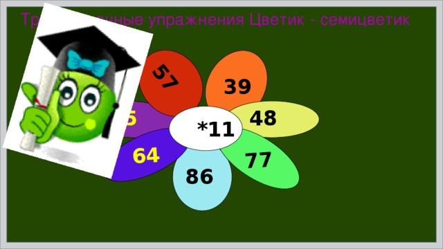 57 77 64 Тренировочные упражнения Цветик - семицветик 39 48 95  *11 86