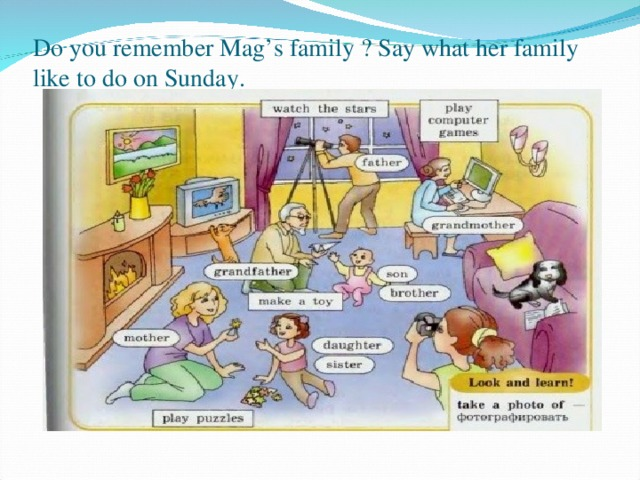 ответ описание картинки семья на отдыхе английский четыре года работы