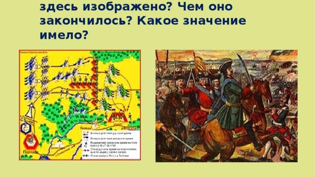 Какое сражение Северной войны здесь изображено? Чем оно закончилось? Какое значение имело?