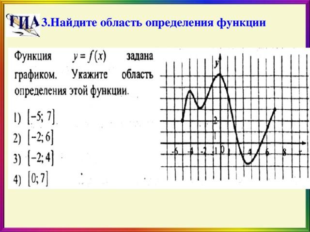 3.Найдите область определения функции