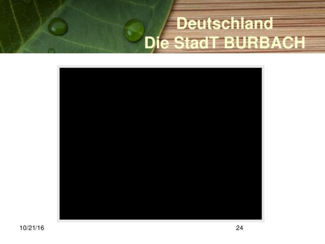 Deutschland Die StadT BURBACH 10/21/16