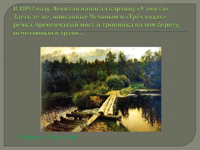 И.Левитан. У омута 1892
